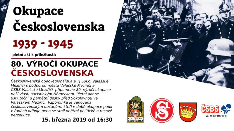 Pietní akt u příležitosti 80. výročí okupace ČSR v roce 1939