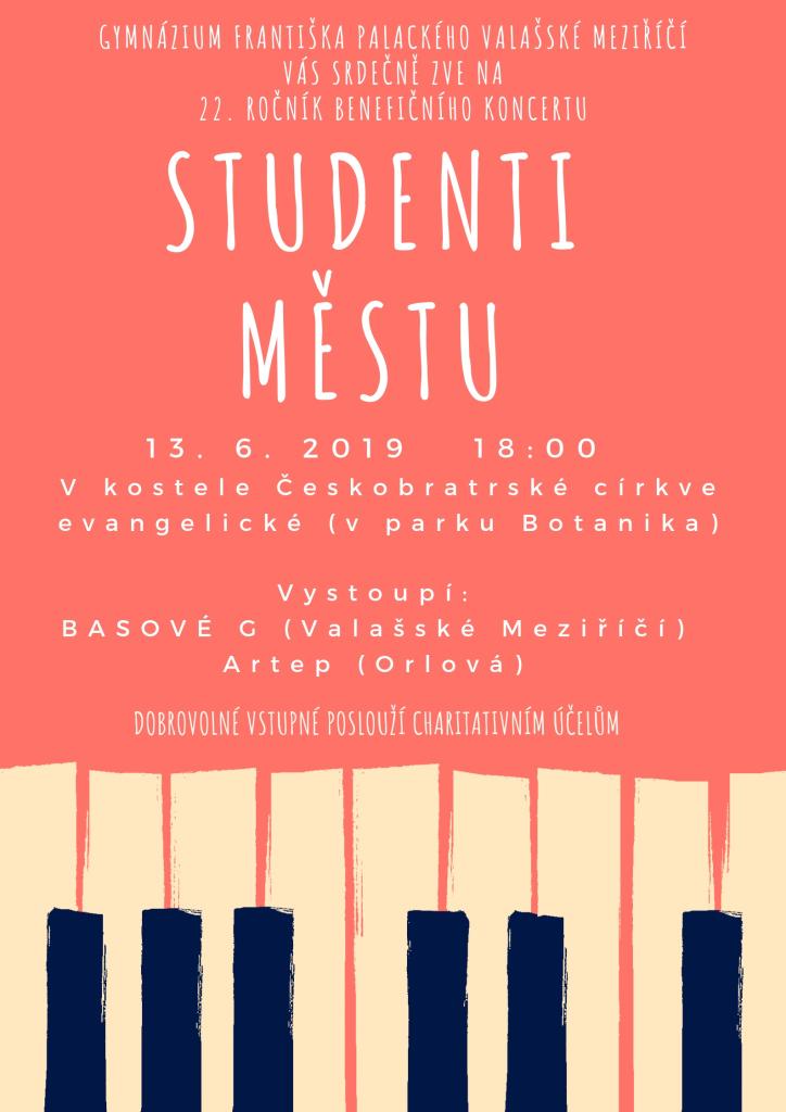 """Benefiční koncert """"Studenti městu"""""""