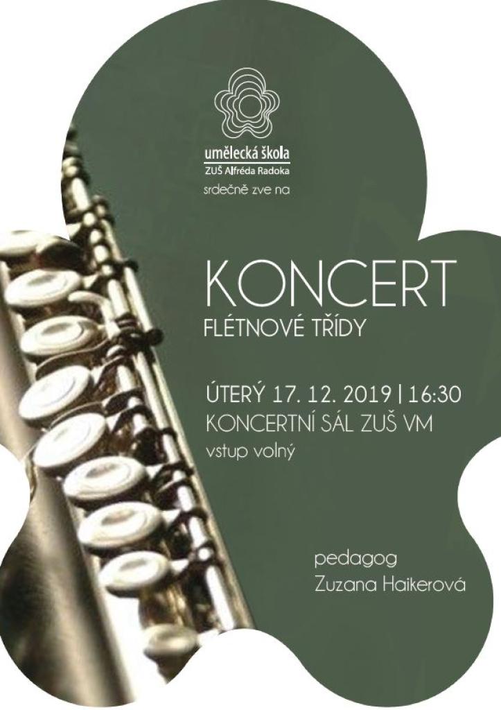 Koncert žáků flétnové třídy