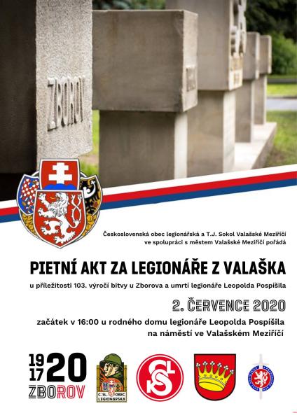Pietní akt za legionáře z Valašska