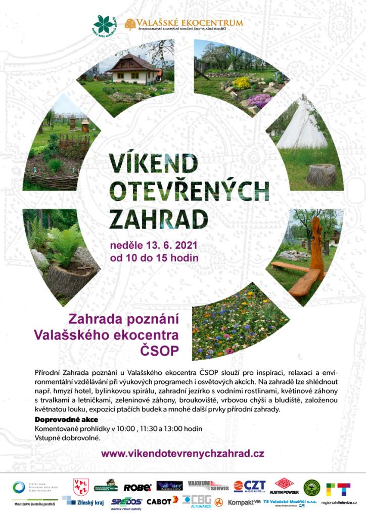 Víkend otevřených zahrad - ukázková přírodní  Zahrady poznání Valašského ekocentra ČSOP